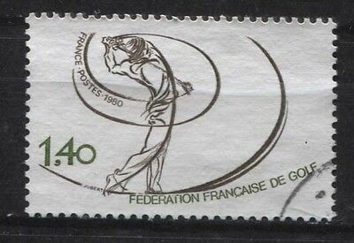 Frankreich France 2225 Golf - Nationaler Goldspielerverband, 1980 gestempelt