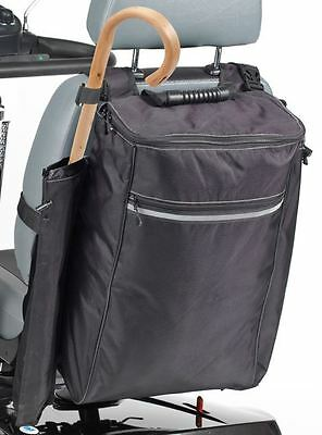 Drive Zippered Scooter Bag with Walking Stick and Crutch Sleeve Holder