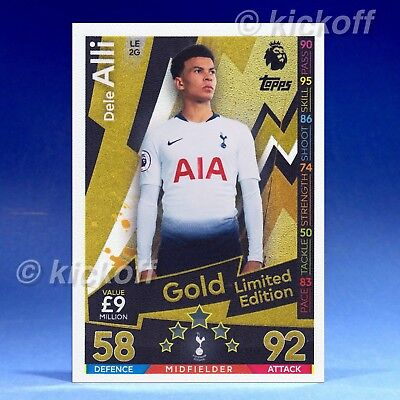 MATCH ATTAX 2018//19 DELE ALLI GOLD LIMITED EDITION LE2G MINT