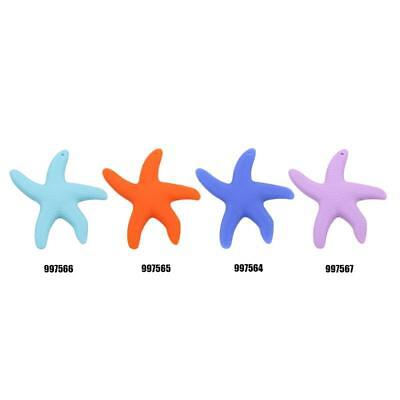 Silicone Teething Starfish Baby Toddler Teether Chewable Training Toy Gift JA