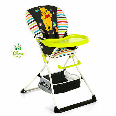 New Hauck Disney Pooh Tidy Time Mac Baby Folding Highchair Compact Feeding Chair