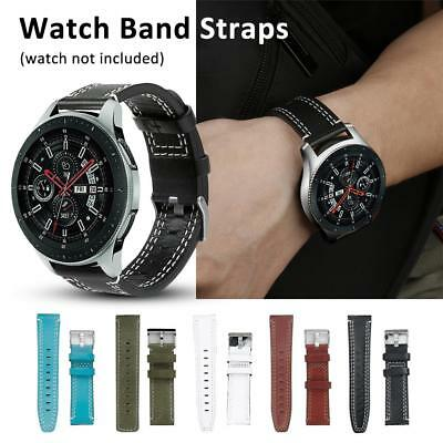 Genuine Leather Band Strap Replacement for Samsung Galaxy Watch 46mm SM-R800 UK