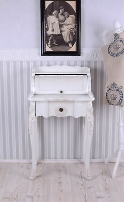 Secretary Desk antique white dressing table shabby chic vintage womans head