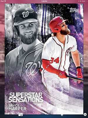 BRYCE HARPER SUPERSTAR SENSATIONS PRIZE WHEEL 2018 Topps BUNT Digital Card