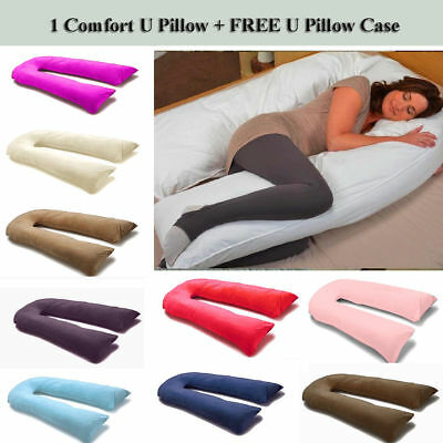 12 Ft U Pillow Body/Bolster Support Maternity Pregnancy Support Pillow/Case