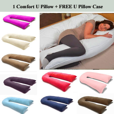12Ft U Pillow Body/Bolster Support Maternity Pregnancy Support Pillow/Case