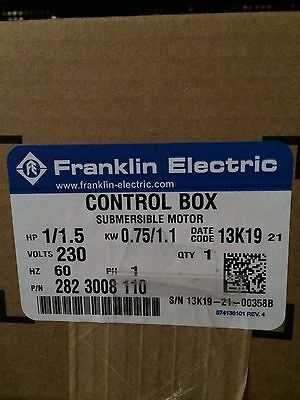 11/2 HP water well  Franklin Electric control box ,For submersible pumps