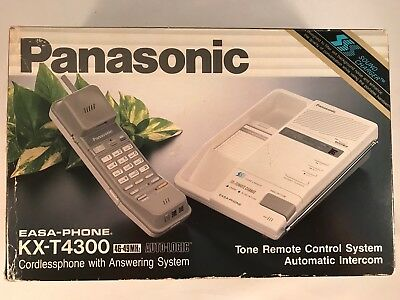 Panasonic KX-T4300 Cordlessphone With Answering System Vintage Phone In Box