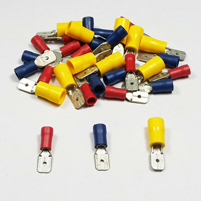 Insulated Male Spade Tab Terminal Connector Terminals Crimp BULK Listing
