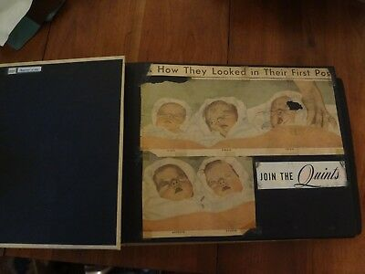 vintage scrap book Dionne Quintuplets newspaper clipping lot #15 as is