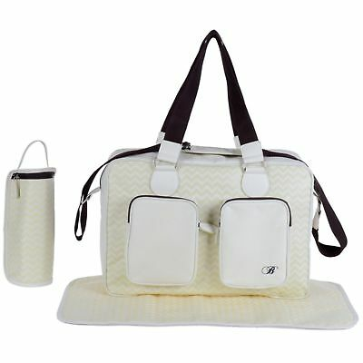 New My Babiie Cream Deluxe Baby Maternity Nappy Changing Bag & Change Mat
