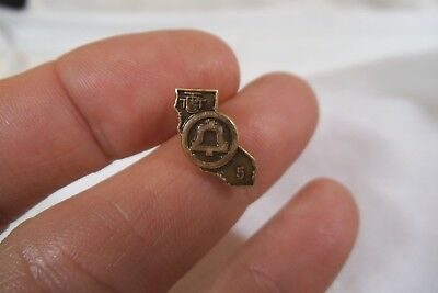 Vintage 10K Gold Filled Pacific Bell Telephone-California TTPT Service Lapel Pin