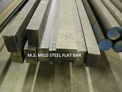 """MS MILD STEEL 1 x 1-1/2 x 24"""" FLAT BAR STOCK COLD ROLLED FOR CNC MACHINE SHOP"""