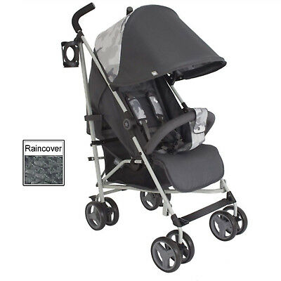 New My Babiie Camo Mb02 Pushchair Compact Stroller With Raincover