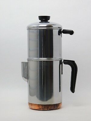 Revere Ware Drip-O-Lator Stainless Copper Clad Coffee Maker Percolator