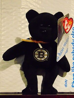 "2018 NEW NHL Boston Bruins 8"" Ty Beanie Baby Hockey Bear"
