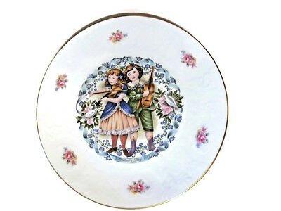 """Royal Doulton Victorian Valentine Day Collector Porcelain China Plate """"1981"""""""