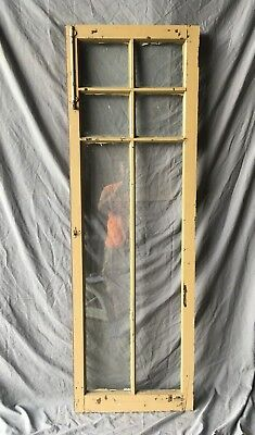 Antique 6 Lite Casement Window Bookcase Cabinet Shabby Vtg Chic 21x62  161-18C