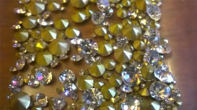 Clear Cut Glass Crystal Jewellery Rhinestones for lost and replacement of stones