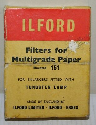 Vintage Boxed Ilford 151 Enlarger Filters For Multigrade Paper