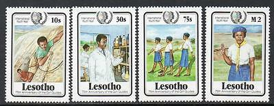 Lesotho MNH 1985 International Youth Year and 75th Anniv. of Girl Scout Movement
