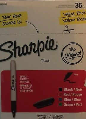Sharpie Permanent Markers, Fine Point, Assorted Colors, 36-Pack (1921559)