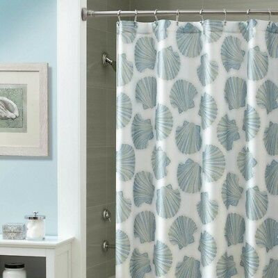 Croscill Mosaic Shells Fabric Shower Curtain 70x72 New Nautical Beach Theme