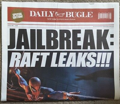 2018 E3 Spider Man Expo Daily Bugle Promo News Paper Sony Playstation 4 Ps4