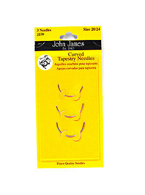 John James Curved Tapestry Needles Assorted Sizes 20/24