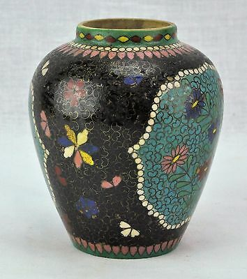 "Japanese Meiji period Cloisonne on porcelain vase. 5"" Tall. (BI#MK/170617)"