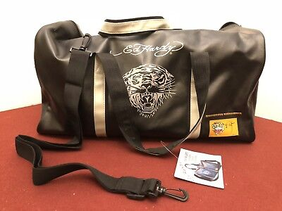 7789b4441b2b ED HARDY TIGER Hold-All Duffle Gym Bag Overnight Carry-on Travel 20 ...