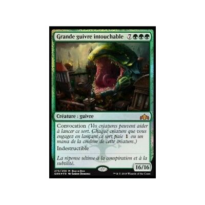 MTG Magic ♦ Guilds of Ravnica ♦ Grande guivre intouchable FOIL Promo Box French