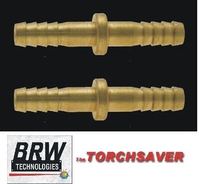 brazing torch fittings 2 ea-Brass hose splice-3/8 ID hose Western#47 S-366