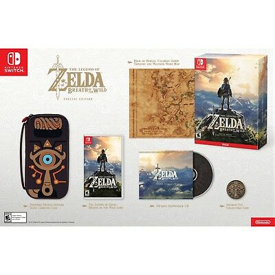 OB Legend of Zelda Breath Of The Wild Special Edition For Nintendo Switch READ!!