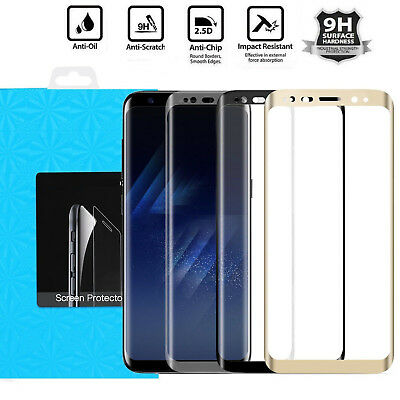 Samsung Galaxy S9 S8 Plus Note 9 8 4D Full Cover Tempered Glass Screen Protector
