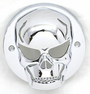 "light cover skull chrome plastic for 2"" round flat lite Peterbilt Kenworth"