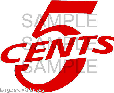 "2/"" VINTAGE STYLE 10 C CENT VENDING DECAL TYPE 2"