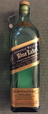 Johnnie Walker Blue Label Scotch Whisky Empty Premium Liquor Bottle $200