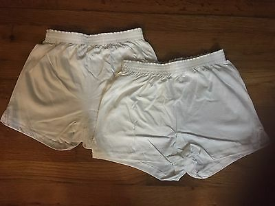 Two Soffe Women's Shorts Athletic   White  Size Small