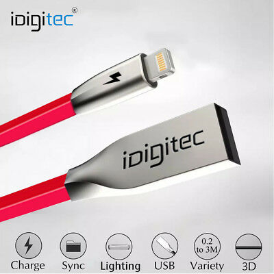 Extra Long Heavy Duty Lightning Charger Cable For iPhone