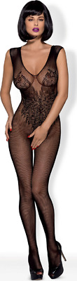 catsuit Obsessive Obsessive Bodystocking N112 Lingerie Intima Nero