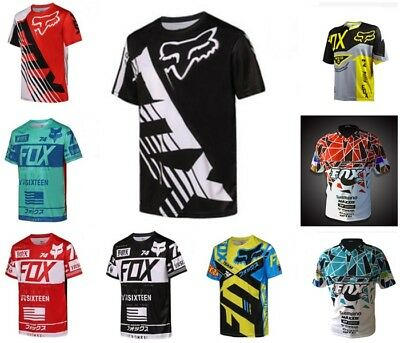 HOT  Fox T-shirt Premium Tshirt Basic Fox Tee Hurley Moto Cross Racing Mens