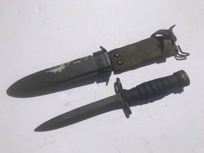"""Us Gi M1 Carbine """"pal"""" Rubber Handle Bayonet With M8A1 Scabbard"""