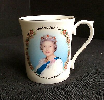 Her Majesty Queen Elizabeth II Golden Jubilee Mug Argyle Stoke-on-Trent  England