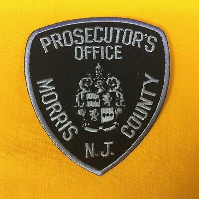 Prosecutor's Office Morris County N.J. Tactical Hat Patch FREE SHIPPING