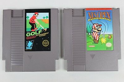 NES Open Tournament Golf and Original Golf 2 Game Set Nintendo Cleaned & Tested