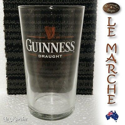 Rare Collectors GUINNESS Draught Gold Harp PINT BEER GLASS 570ml NEAR NEW