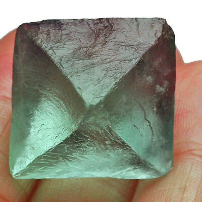 87.8Ct 100% Natural Rare Octahedral Green Fluorite Crystal Specimen UBVU-T378