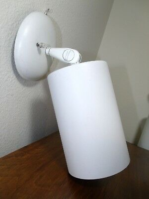 Vintage White Mid Century Modern Cylinder Adjustable Wall Sconce Ceiling Light