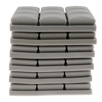 6Pcs of Pack Acoustic Foam Panel Soundproofing Foam for Musical Parts Gray
